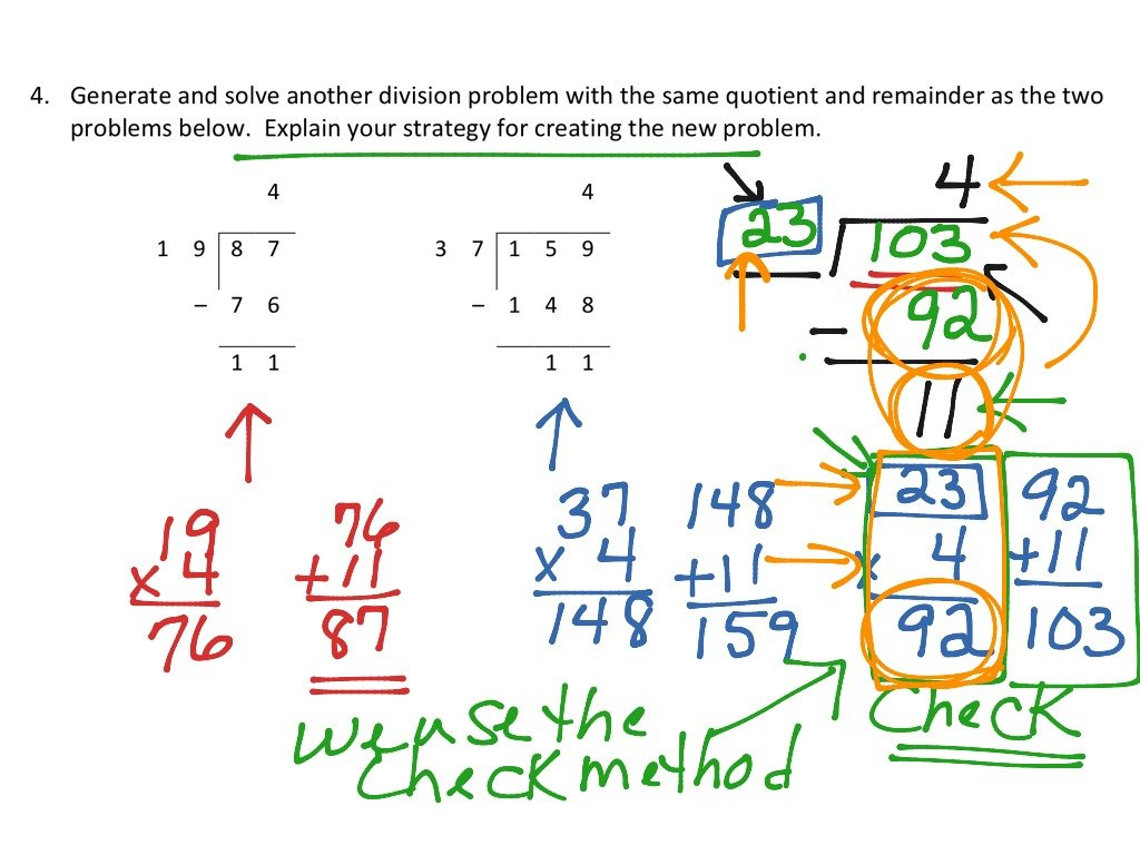 finding a division problem with the same quotient