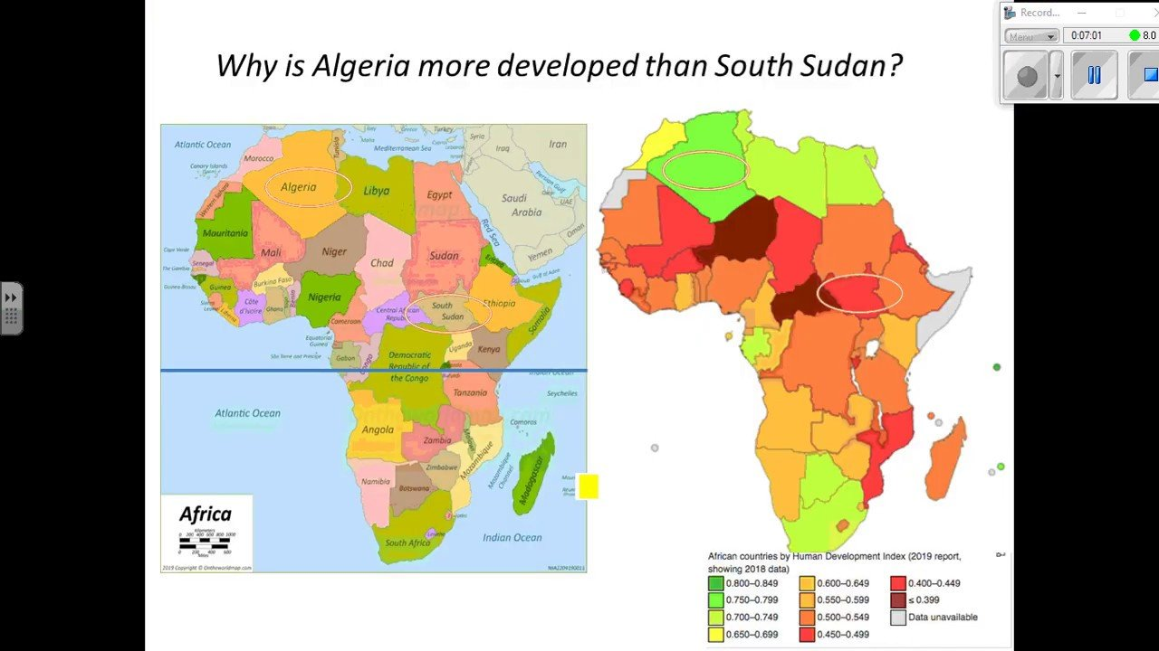 Uneven development in Africa Year 7 Geography