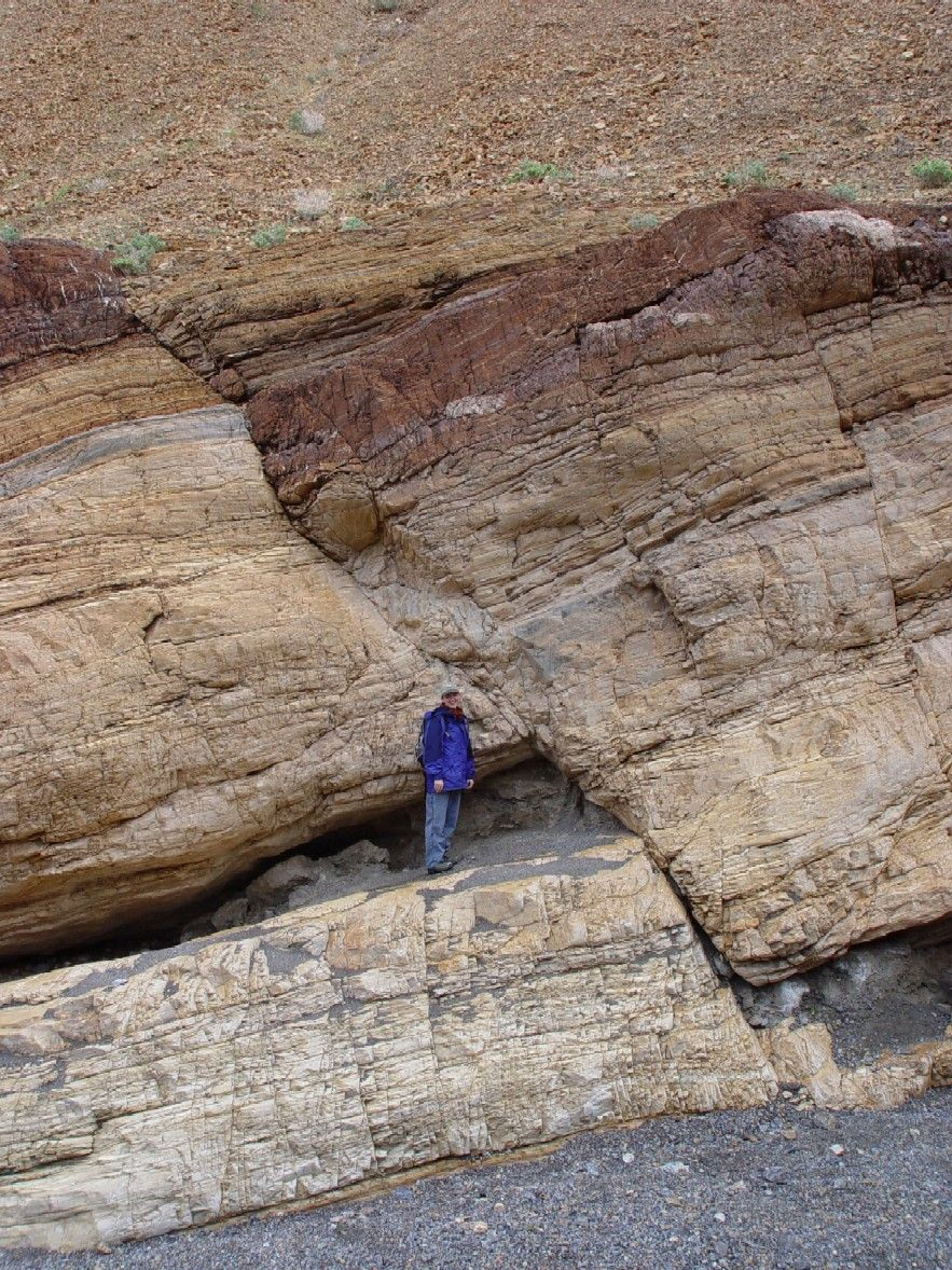 What about this fault? Look at the rock layers ...