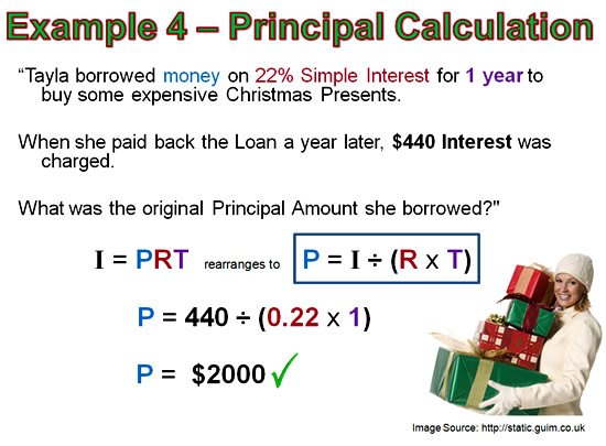 You should probably know this: Principle And Interest ...